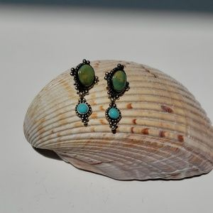Jewelry - Turquoise and silver Navajo earrings